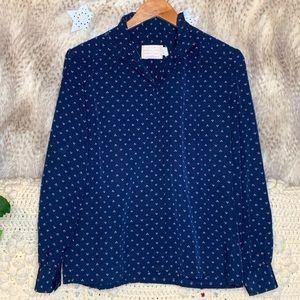 Vintage Pendleton Long Sleeve Blue Blouse